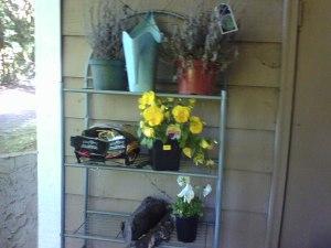Garden patio shelves