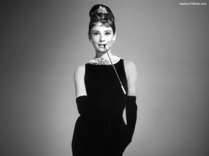 The original 'long cool woman in a black dress', Audrey Hepburn.